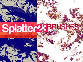 SPLATTER23- brush set by hugorr