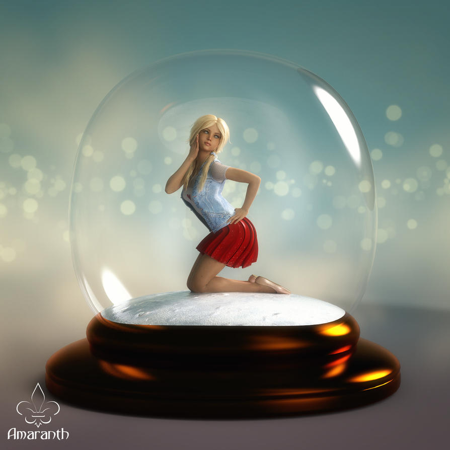 Snowglobe Christmas freebie 2017 by art-by-Amaranth