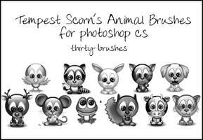 Tempest's Animal Brushes by tempest-scorn