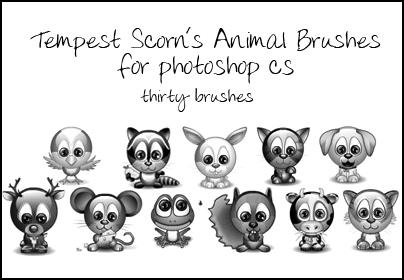 Tempest's Animal Brushes by tempest-scorn
