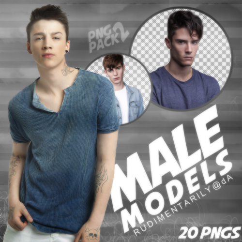 PNG PACK #2 - Random Male Models by rudimentarily on DeviantArt