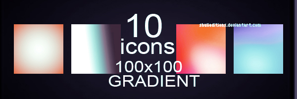 10 icon's gradients by shulieditions