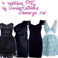 Vestidos PNG by AmberEditions