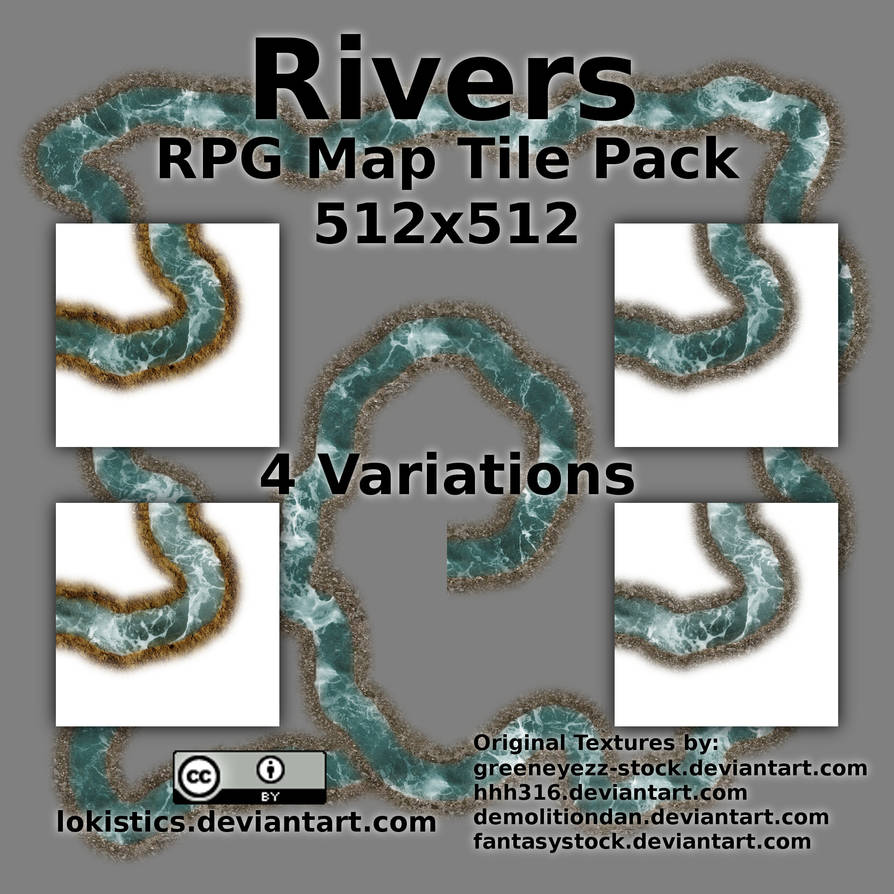 Rivers - Free RPG Map Tile Pack by Lokistics on DeviantArt