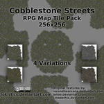 Cobblestone Streets - Free RPG Map Tile Pack