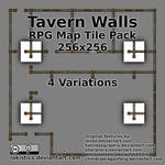 Tavern Walls  - Free RPG Map Tile Pack