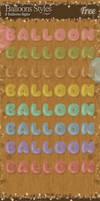 Balloons Styles