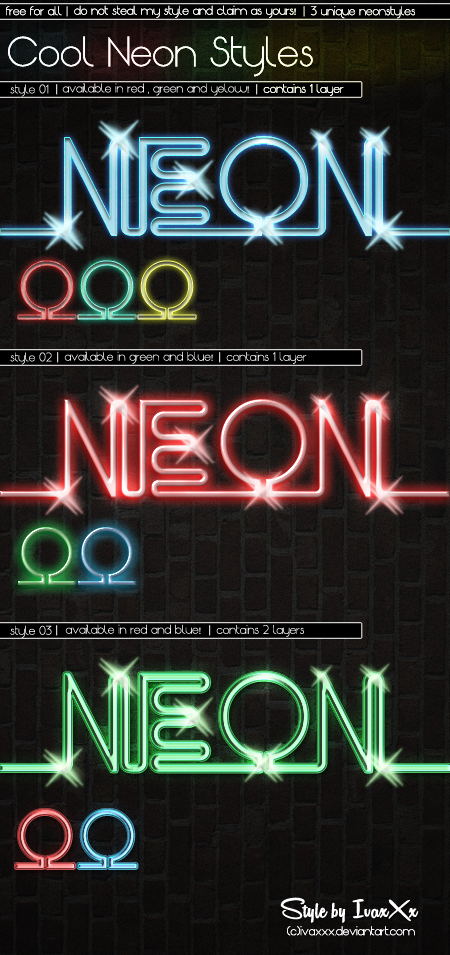 Cool Neon Styles by IvaxXx