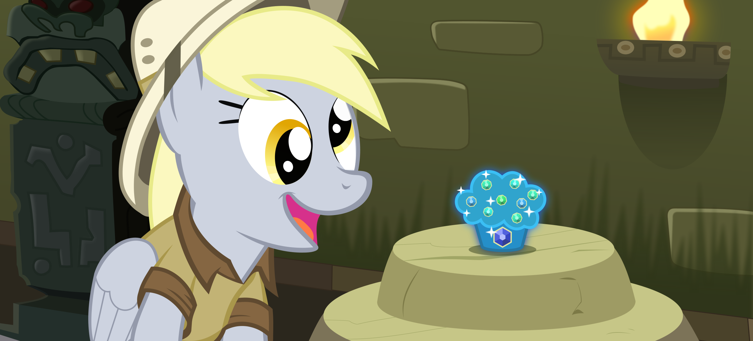 Daring Derpy and the sapphire muffin svg by BaumkuchenPony