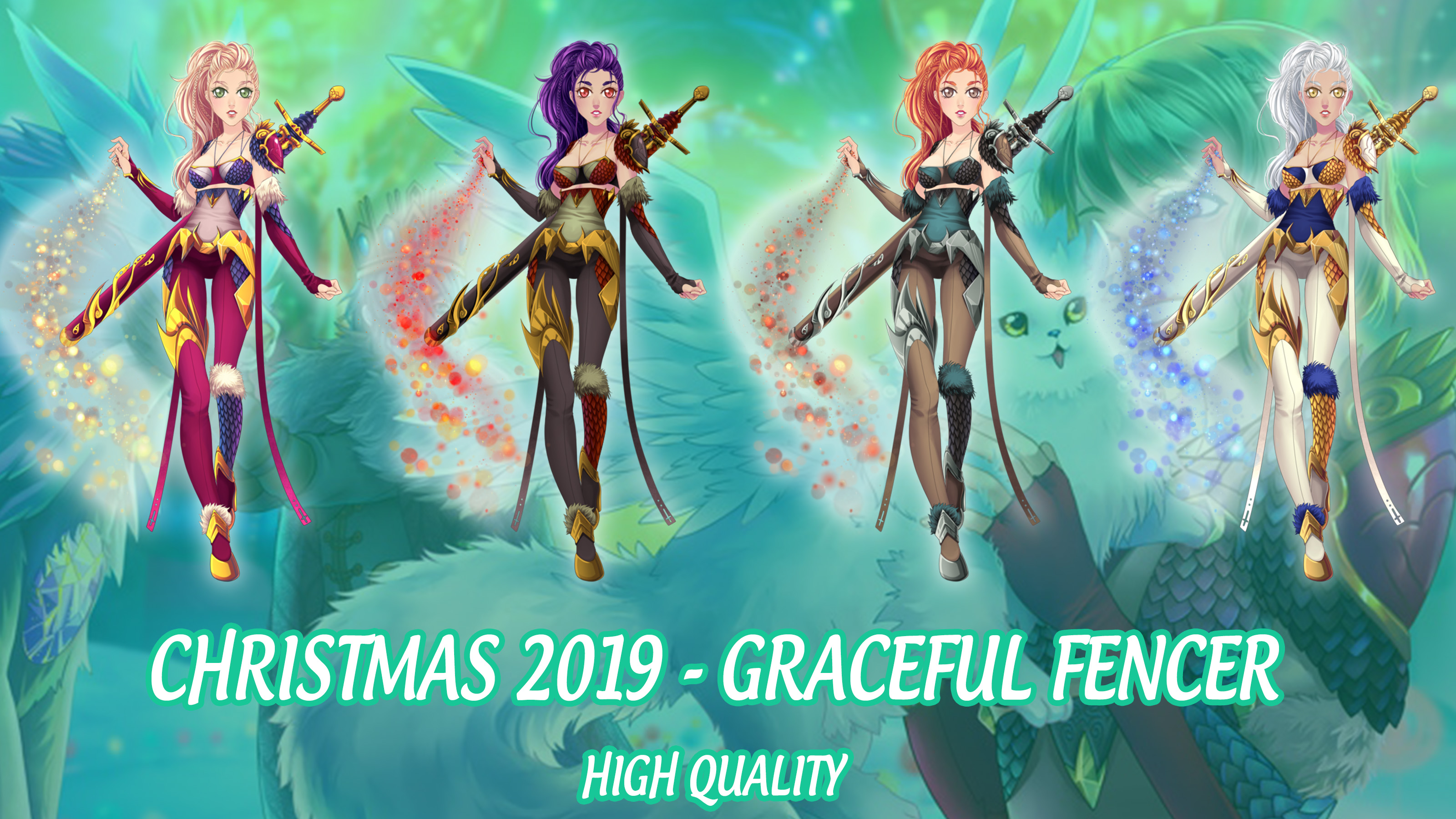 Eldarya Christmas 2020 ELDARYA   Pack Graceful Fencer by HelenMegury on DeviantArt
