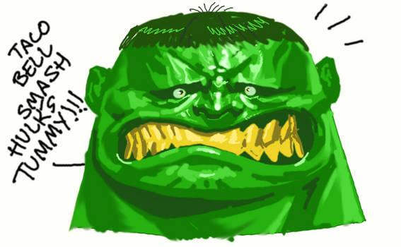 Hulk tummy smash!!!