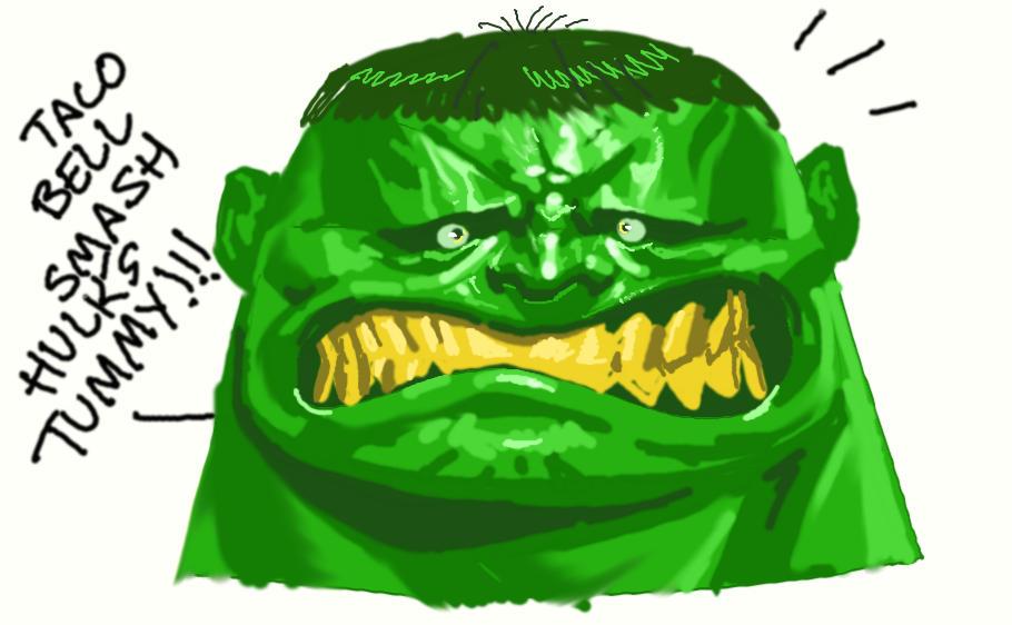 Hulk tummy smash!!! by Chuckdee