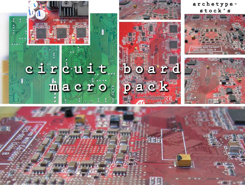 Circuit Boards Macro Pack by archetype-stock