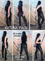 Comic Book Heroine Katana Pack by archetype-stock