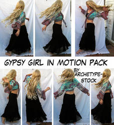 Gypsy Girl in Motion Stock Pak by archetype-stock