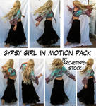 Gypsy Girl in Motion Stock Pak