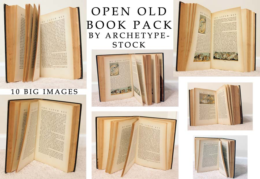 Open Old Book Pack