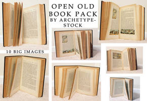Open Old Book Pack by archetype-stock
