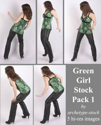 Green Girl Stock Pack 1 by archetype-stock