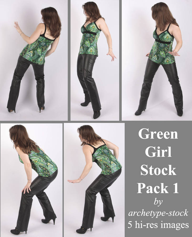 Green Girl Stock Pack 1