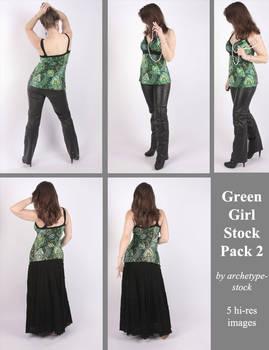 Green Girl Stock Pack 2