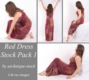 Red Dress Stock Pack 1