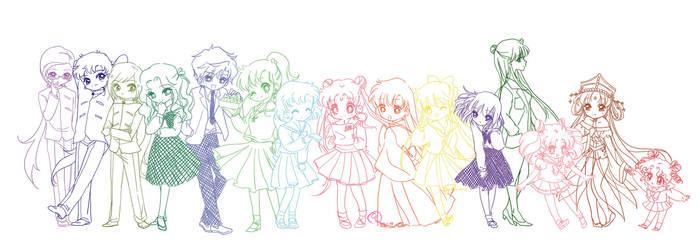 Sailor Friends! by utsuki14
