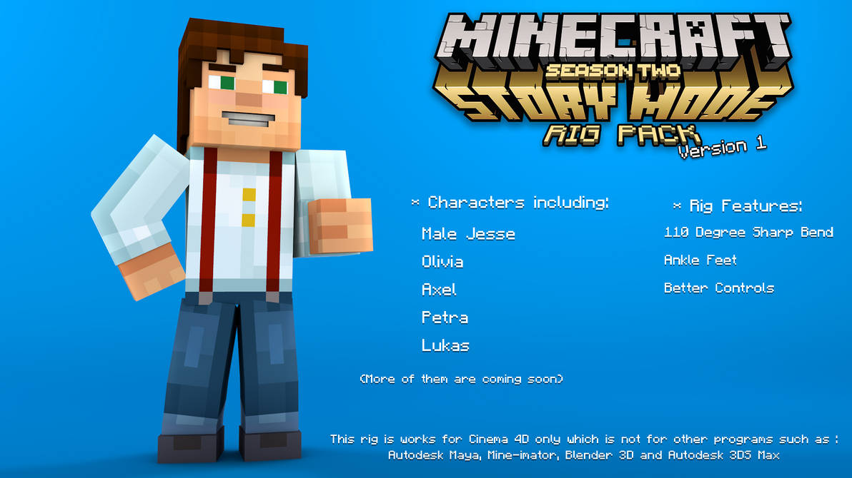 Minecraft: Story Mode Season Two rig pack v1 [DL] by