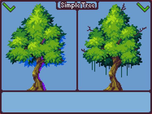 Simple Tree - Pixel art tutorial [GIF]