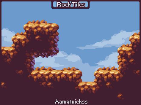 Simple Rock Tileset - Pixel Art Tutorial [Gif]