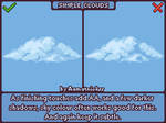Pixel Art Clouds Tutorial [animated gif]