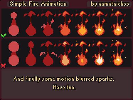 Fire Animation - Pixel Art Tutorial