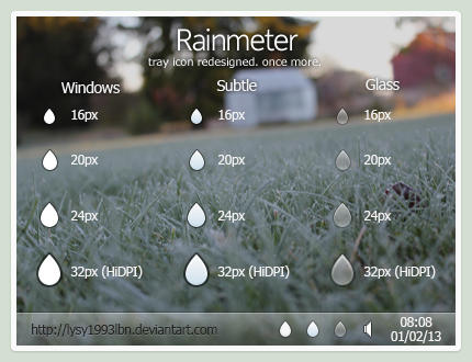 Rainmeter Tray Icons v2 by lysy1993lbn