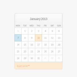 Calendar PSD