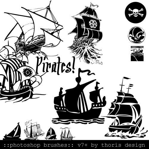 Pirates 34 PSv7 Brushes by dejahofmars