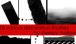 various decoration Brushes by ghostsheep