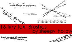 Tiny Text Brushes 2 by ghostsheep