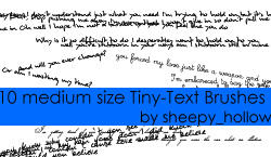 Tiny Text Brushes - medium by ghostsheep