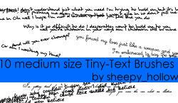 Tiny Text Brushes - medium by ghostsheep
