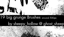 big grunge Brushes by ghostsheep