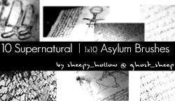 Supernatural-Asylum - Brushes by ghostsheep