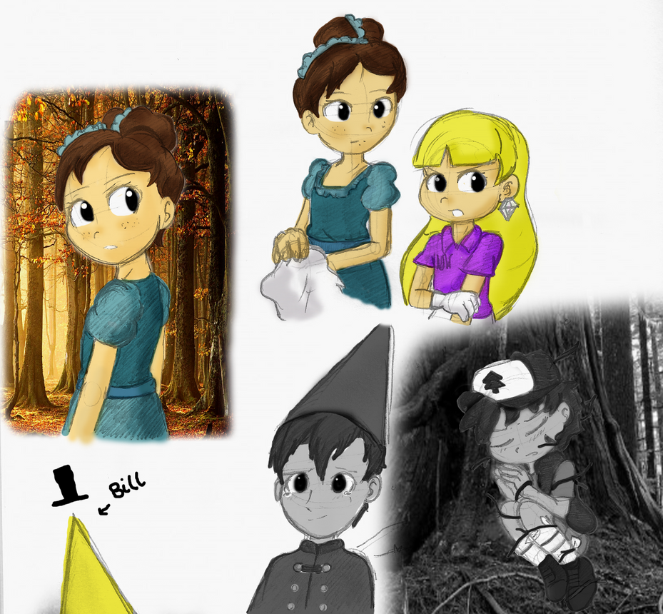 Gravity Falls Over The Garden Wall Sketch Dump By Sup3rsaiyan On