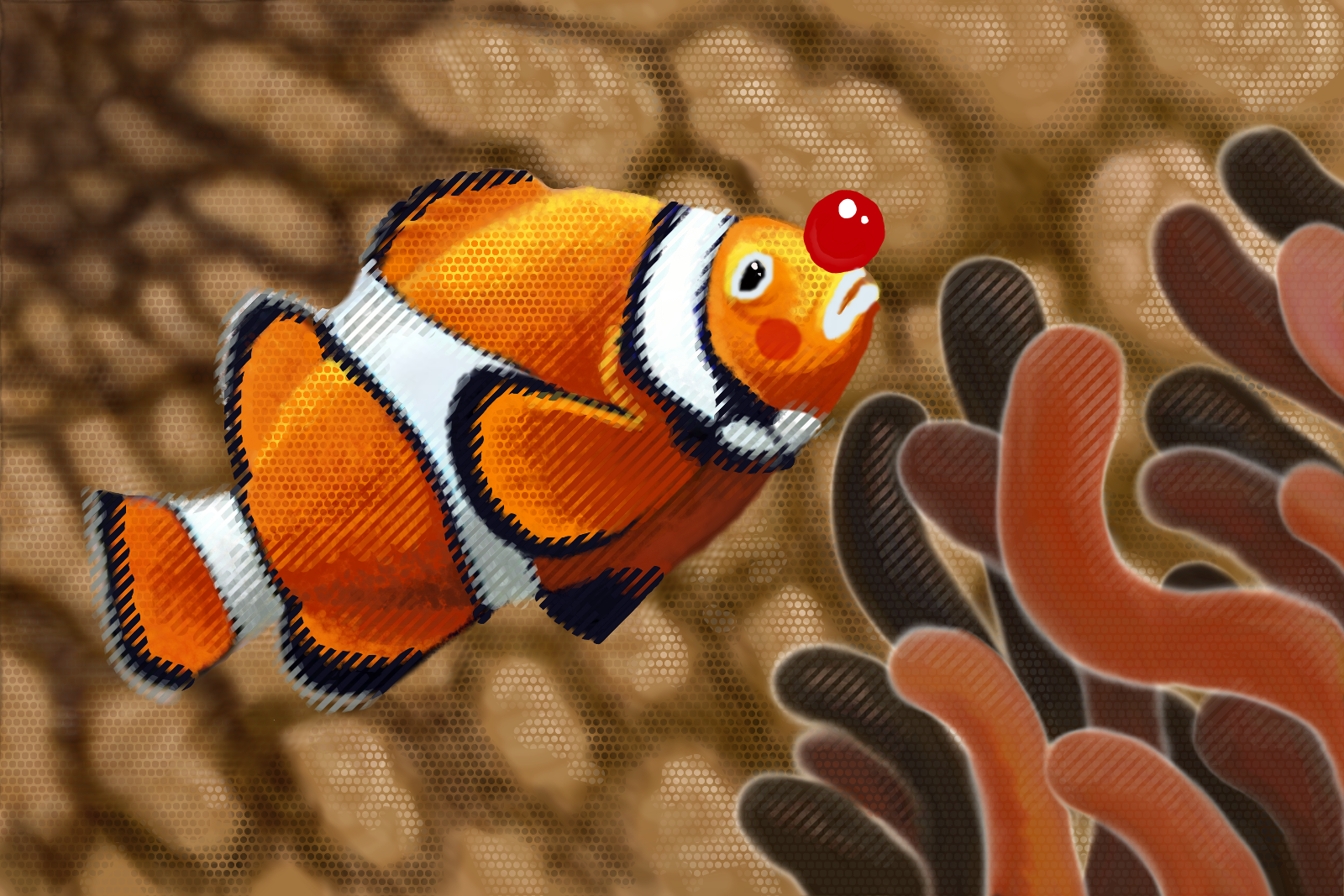 Clownfish by artbit on deviantart for Clown fish for sale