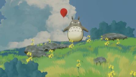 Totoro And Mei, a  Studio Ghibli Study