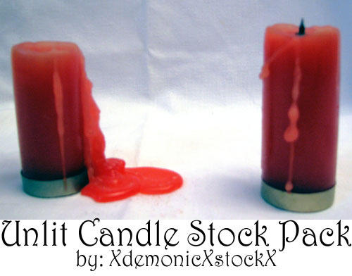 Unlit Candle Stock Pack by XdemonicXstockX