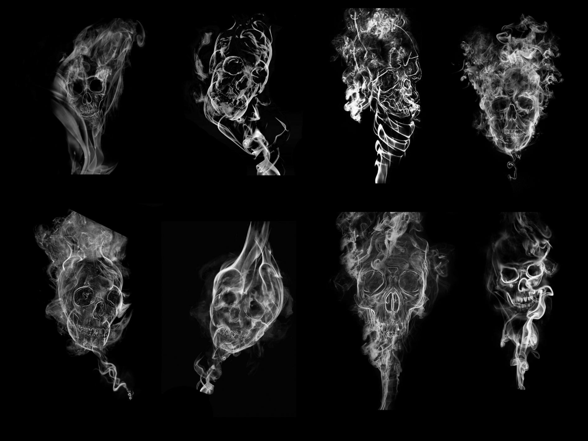 Smoke skull brushes