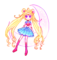 Sailor Moon on the Moon-PIXEL