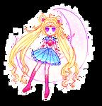 Sailor Moon on the Moon-PIXEL