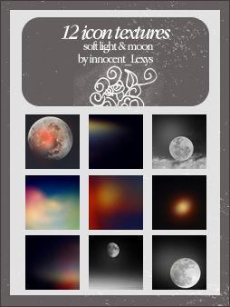 12 soft moon textures