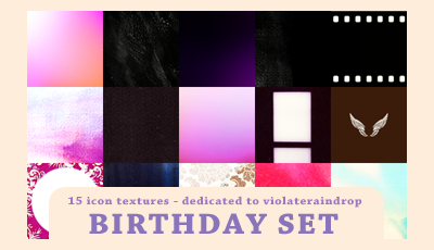 Birthday Set - Violateraindrop